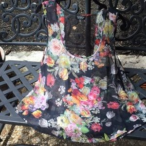 TopShop Floral Sleeveless Top